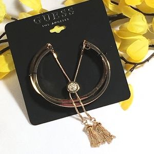 3/$30 GUESS Gold Bangle Bracelets with Tassels